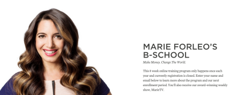 WEBSITE: Marie Forleo B School