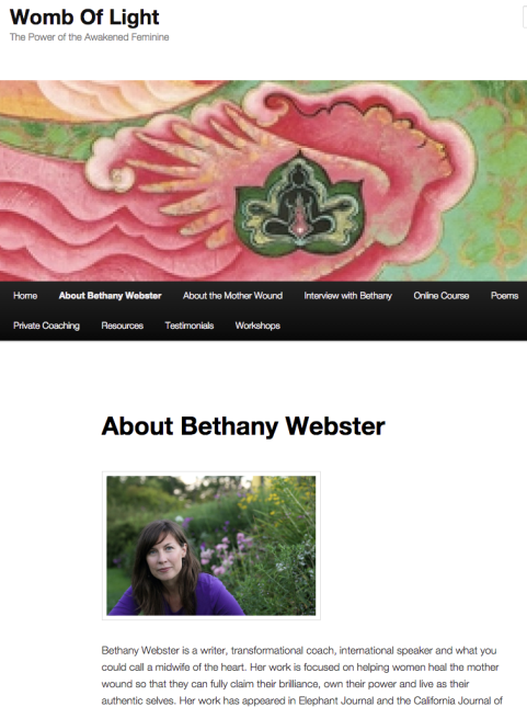 Blog: Womb of Light by Bethany Webster