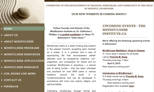 Website: The Mindfulness Institute